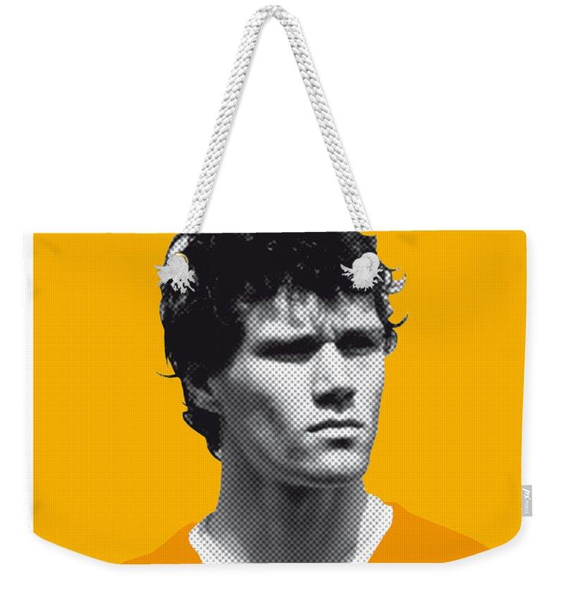 Beckenbauer Weekender Tote Bag featuring the digital art My Van Basten Soccer Legend Poster by Chungkong Art