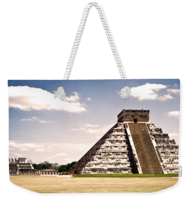 Chichen Itza Weekender Tote Bag featuring the photograph Mysterious Chichen Itza by Chris Brannen
