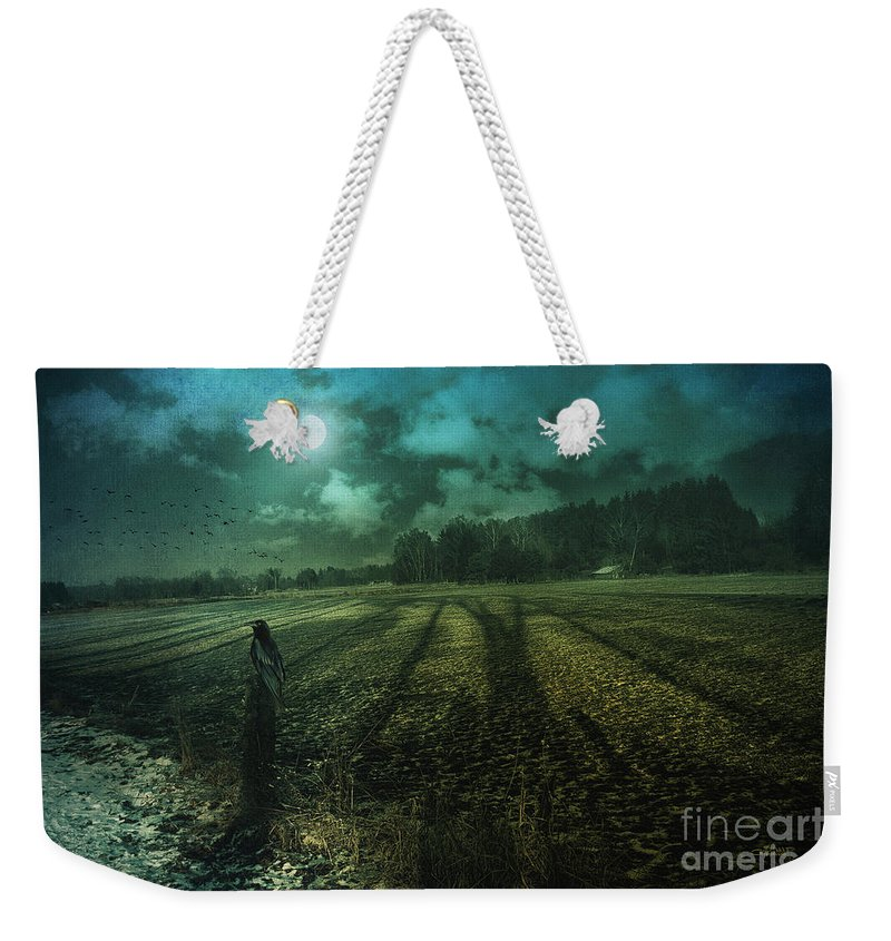 Photo Weekender Tote Bag featuring the photograph Mysterious Shadows by Jutta Maria Pusl