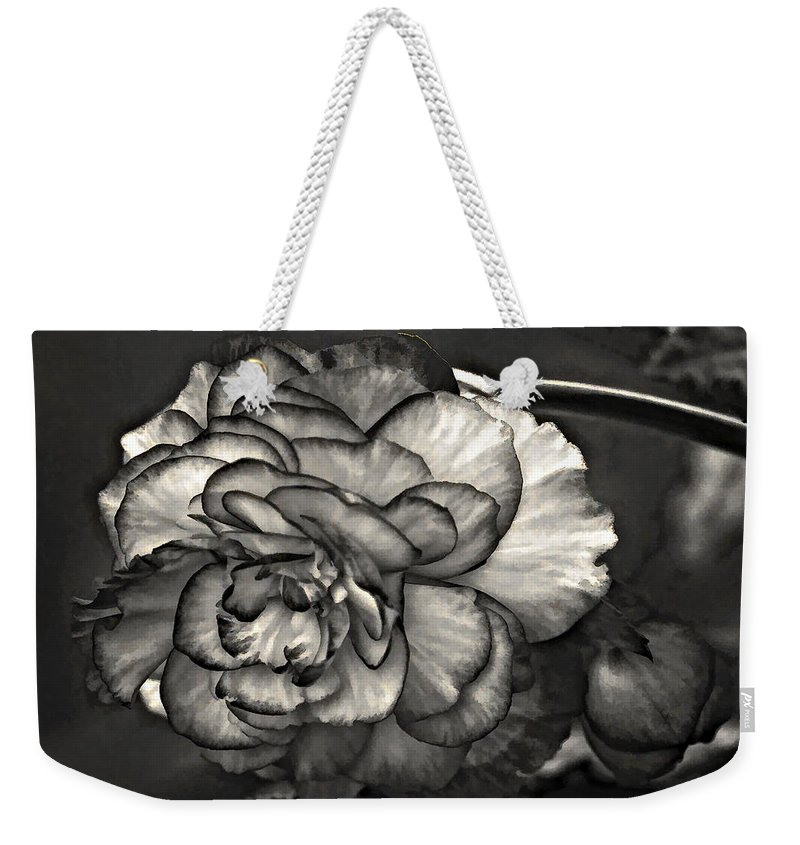 Begonia Weekender Tote Bag featuring the photograph Mystery Girl by Steve Harrington