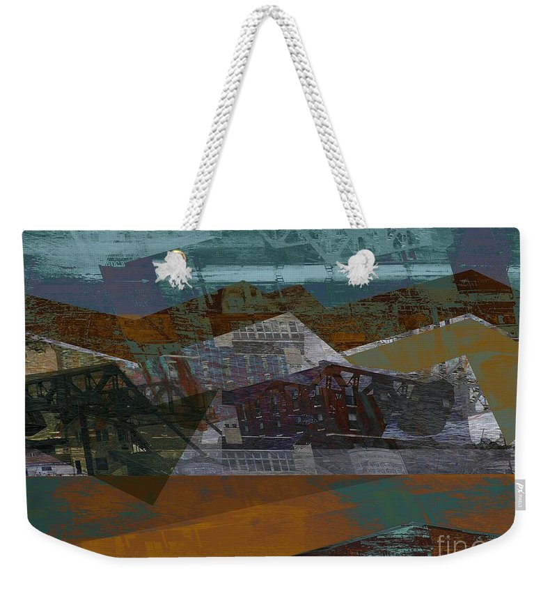 Mystic Seaport Weekender Tote Bag featuring the photograph Mystic Bascule Activity by CR Leyland