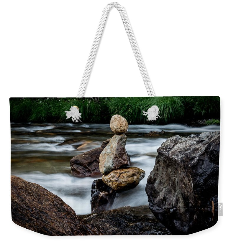 River Weekender Tote Bag featuring the photograph Mystic River S2 Viii by Marco Oliveira