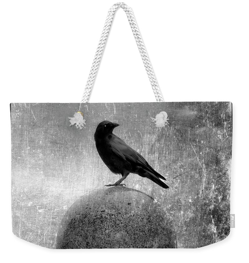 Monochrome Weekender Tote Bag featuring the photograph Mystical Globe by Gothicrow Images