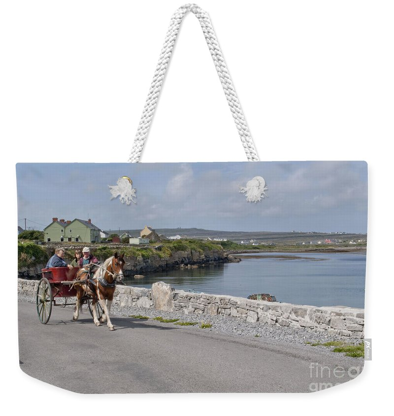 Ireland Digital Photography Weekender Tote Bag featuring the digital art Na Hiostain Inis Mor by Danielle Summa