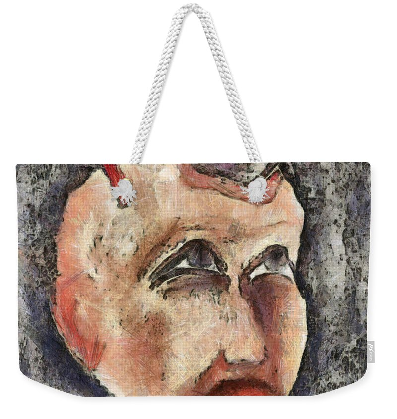 Question Weekender Tote Bag featuring the mixed media Nagging Doubts by Michal Boubin