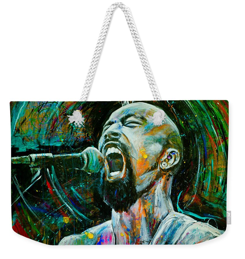 Robyn Chance Weekender Tote Bag featuring the painting Nahko by Robyn Chance