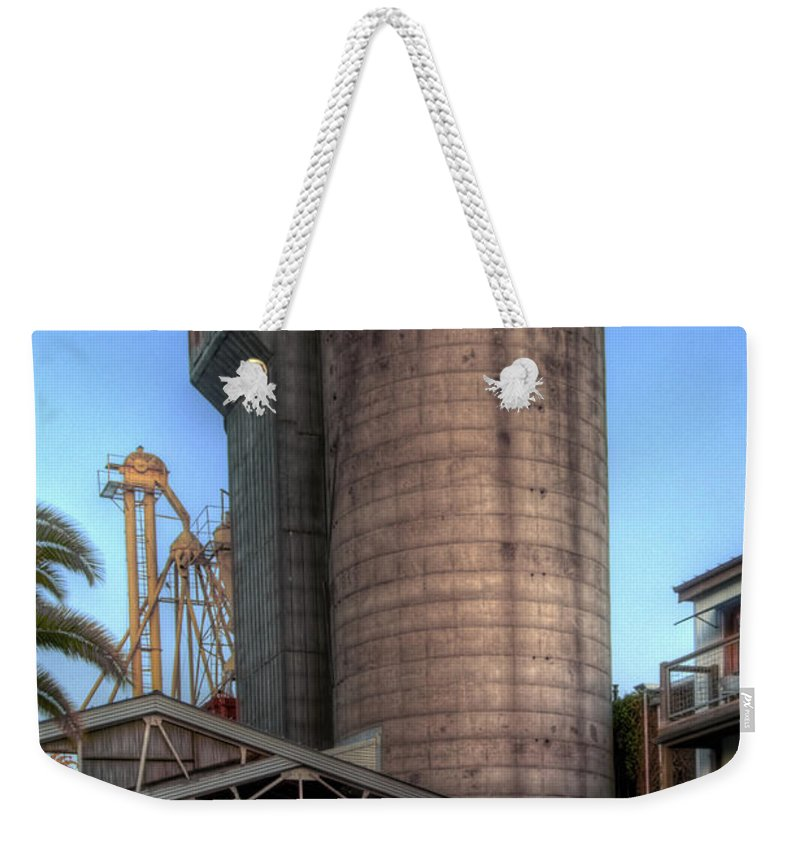 Mill Weekender Tote Bag featuring the photograph Napa Mill II by Bill Gallagher