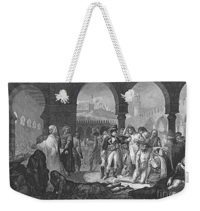 1799 Weekender Tote Bag featuring the photograph Napoleon At Jaffa, 1799 by Granger