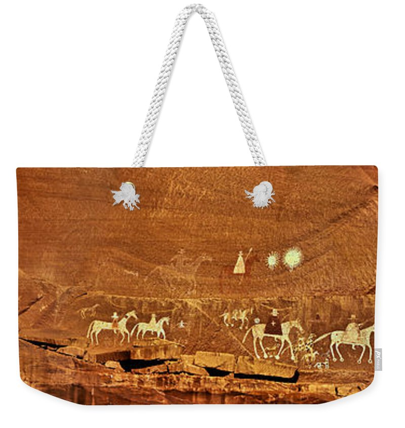 2005 Weekender Tote Bag featuring the photograph Narbona Expedition by Robert Charity