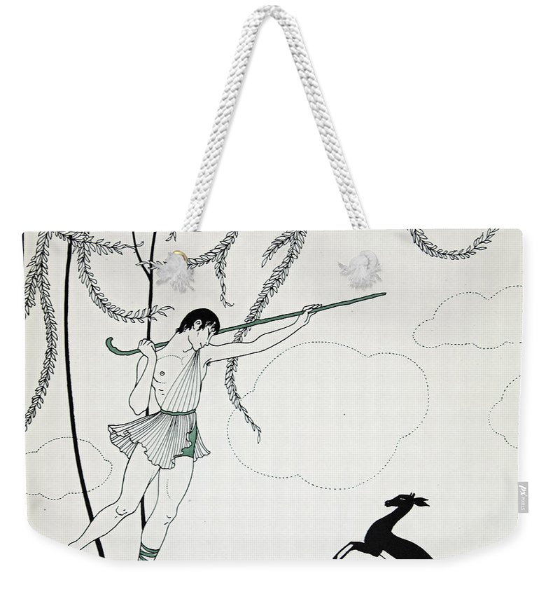 Ballet Weekender Tote Bag featuring the painting Narcisse by Georges Barbier