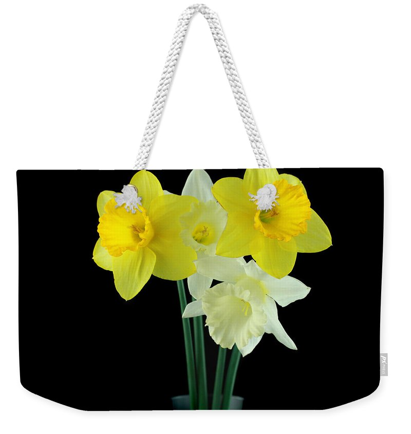 Weekender Tote Bag featuring the photograph Narcissus by Mark Ashkenazi
