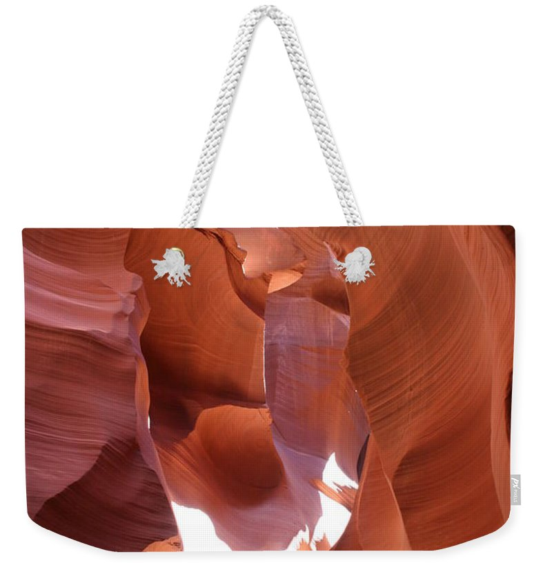 Canyon Weekender Tote Bag featuring the photograph Narrow Canyon Xiii by Christiane Schulze Art And Photography