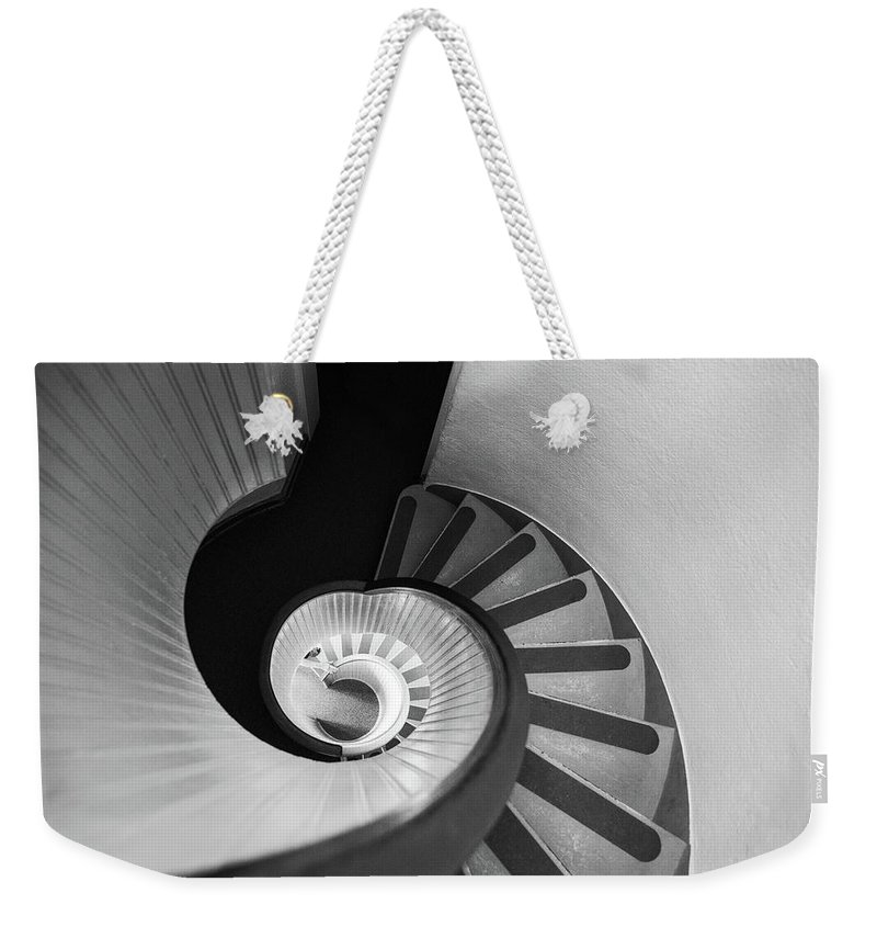 Steps Weekender Tote Bag featuring the photograph Narrow Circular Staircase Abstract by Art Wager
