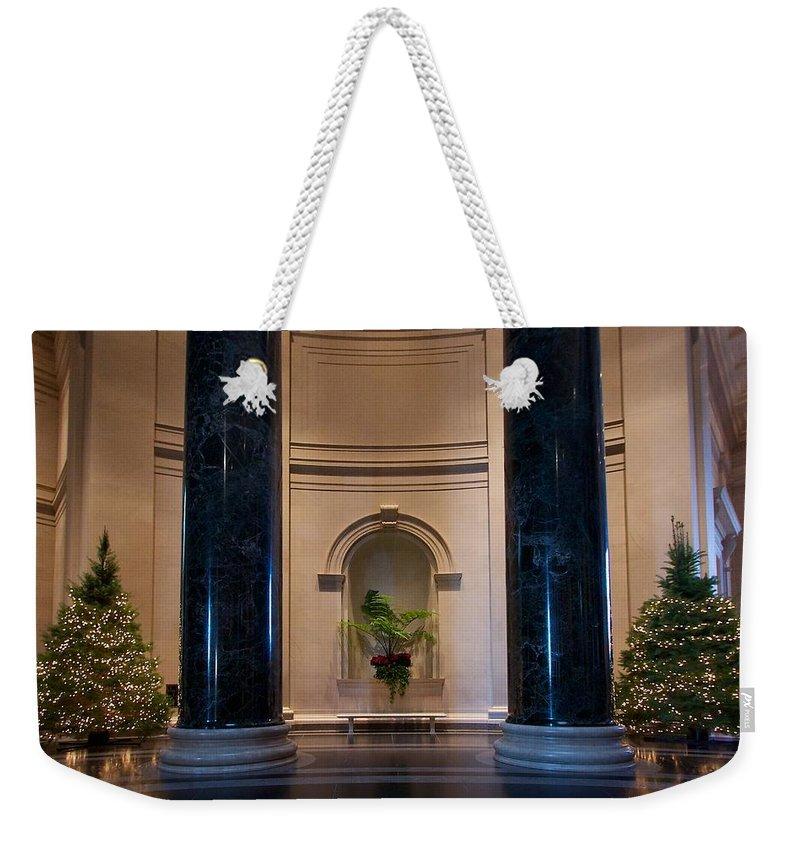 National Gallery Of Art Weekender Tote Bag featuring the photograph National Gallery Of Art Christmas by Stuart Litoff