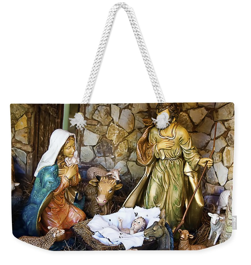 Holiday Weekender Tote Bag featuring the photograph Nativity by Paulo Goncalves