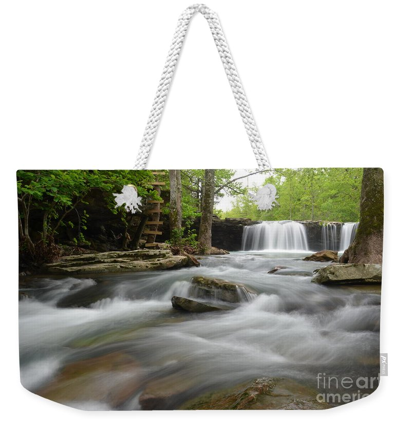 Falling Water Falls Weekender Tote Bag featuring the photograph Natural Beauty by Deanna Cagle
