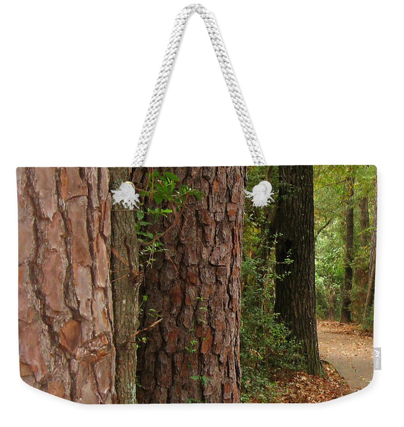 Tall Trees Weekender Tote Bag featuring the photograph Natural Beauty by Connie Fox