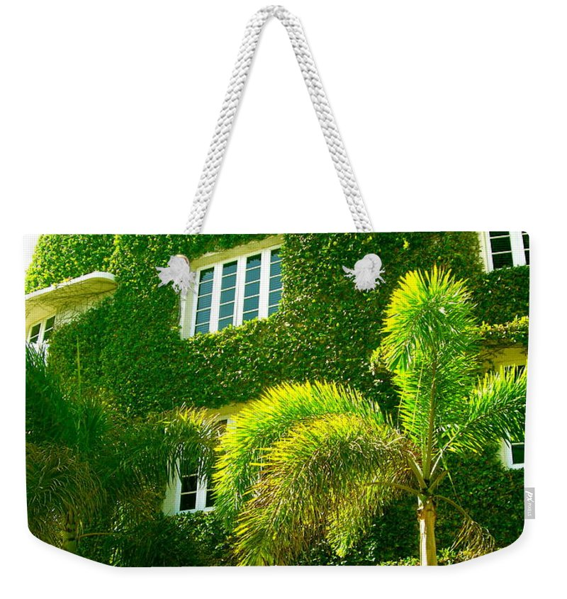 Ivy Prints Weekender Tote Bag featuring the photograph Natural Ivy House by Monique's Fine Art