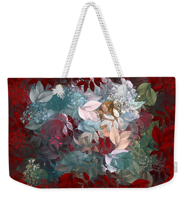 Leaves Weekender Tote Bag featuring the digital art Naturaleaves - S20-03c by Variance Collections
