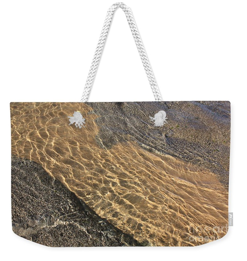 Lake Tahoe Weekender Tote Bag featuring the photograph Nature Abstract - Clear Lake Tahoe Water by Carol Groenen