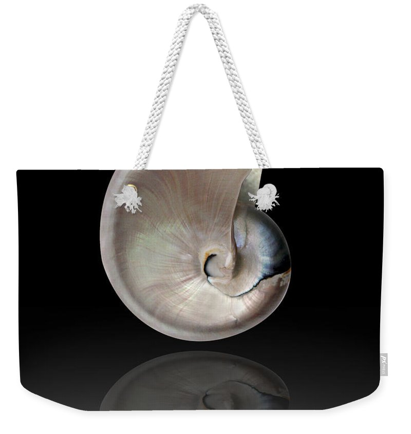 Shells Weekender Tote Bag featuring the photograph Nature By The Sea by Mark Ashkenazi