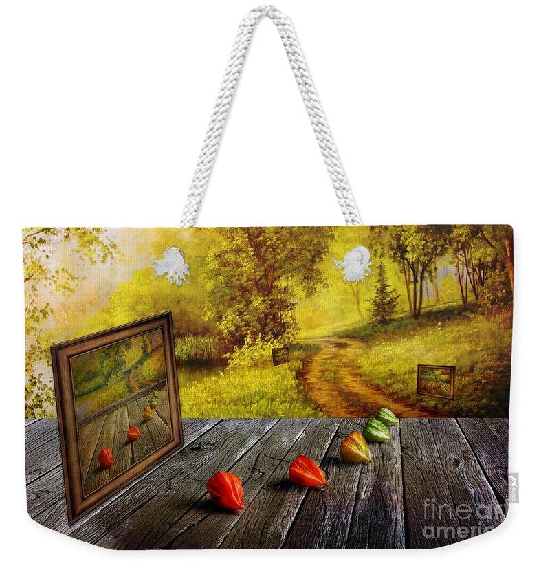 Artist Weekender Tote Bag featuring the digital art Nature Exhibition by Veikko Suikkanen