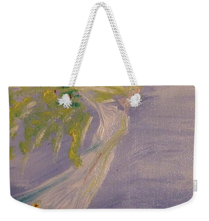 Weekender Tote Bag featuring the painting Nature Spirit by Katerina Naumenko