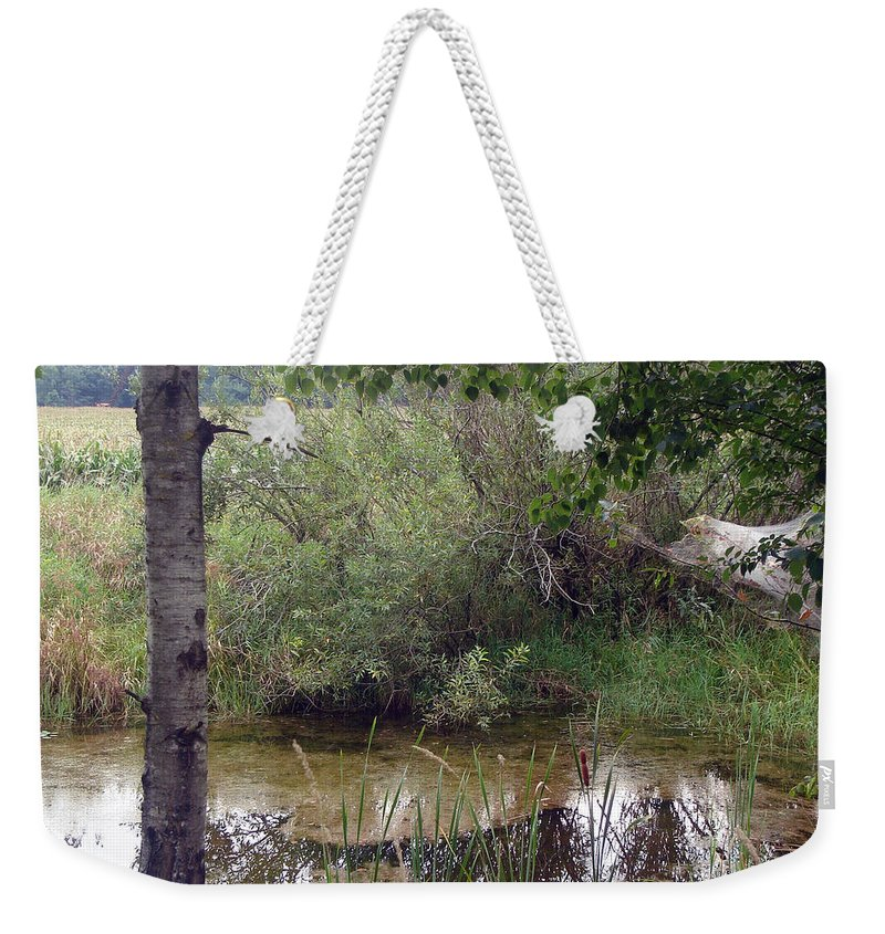 Pond Weekender Tote Bag featuring the photograph Nature's Pond by Lovina Wright