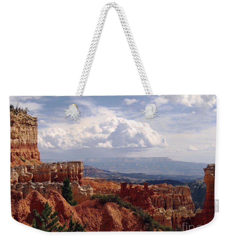 Bryce Canyon Weekender Tote Bag featuring the photograph Nature's Symmetry by Meghan at FireBonnet Art