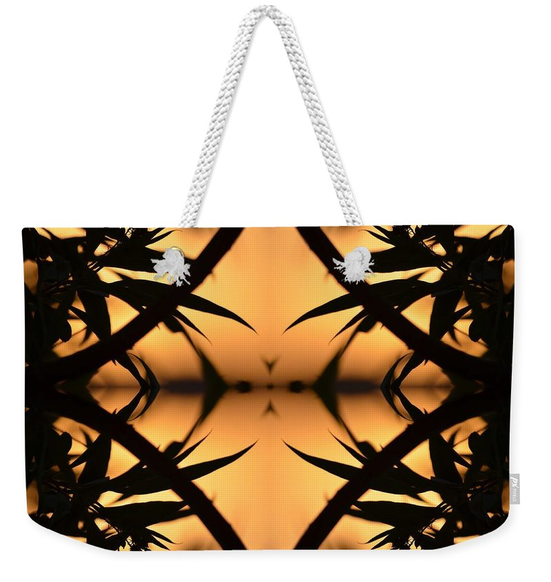 Leaves Weekender Tote Bag featuring the photograph Nature's Window Of Opportunity by Deprise Brescia
