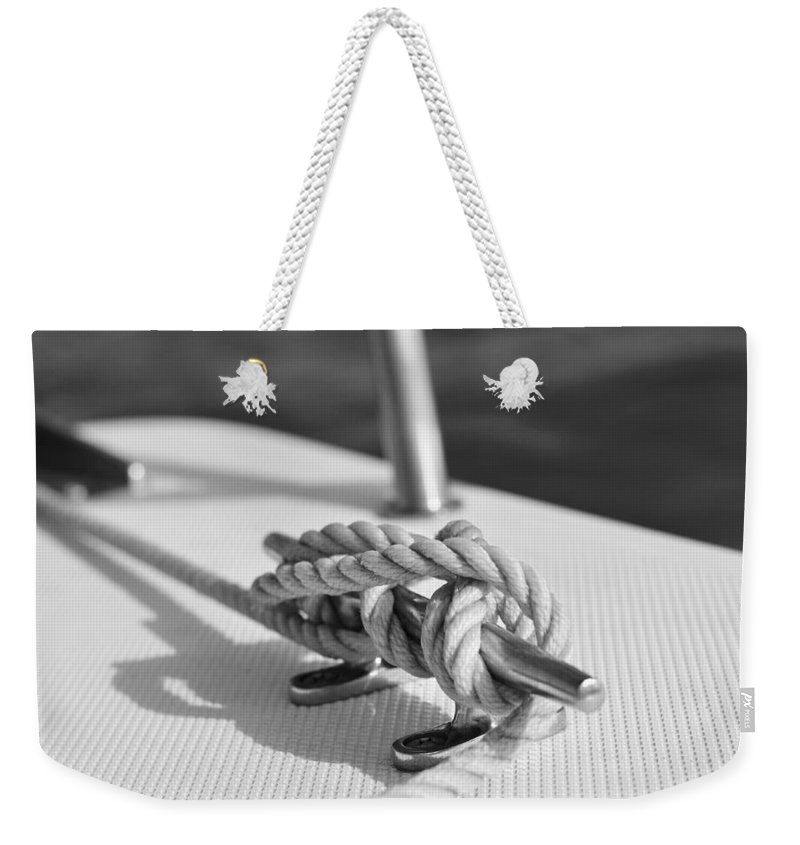 Laura Fasulo Weekender Tote Bag featuring the photograph Nautical by Laura Fasulo