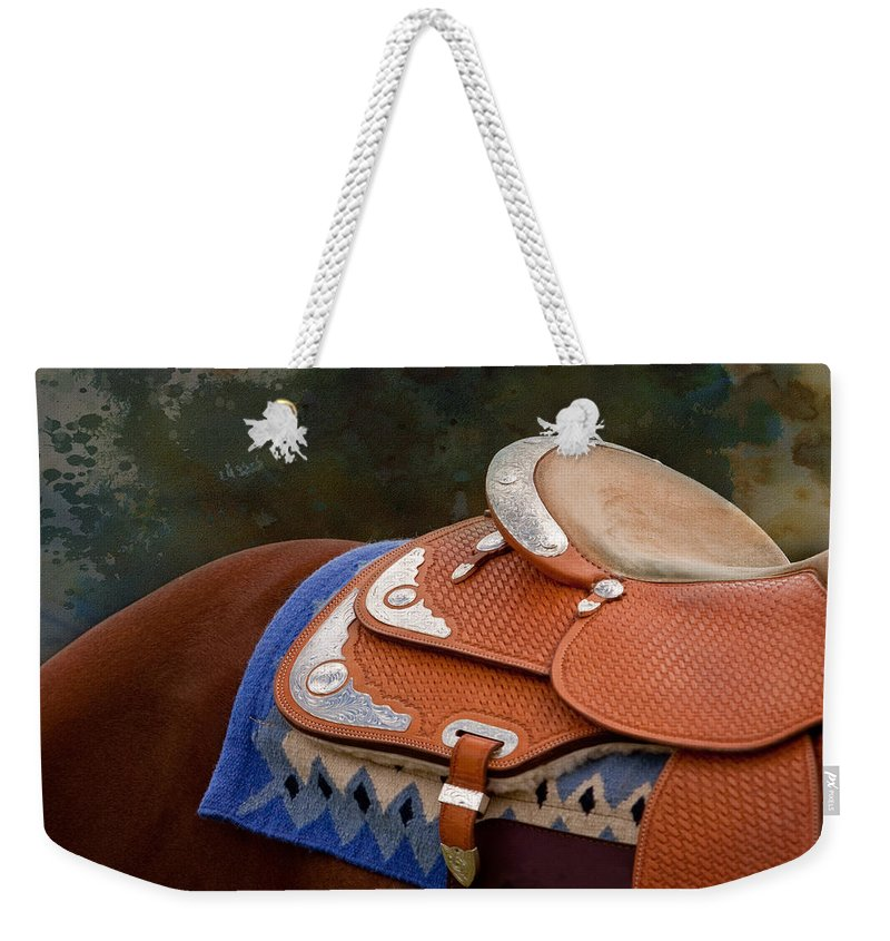 Abstract Horse Photography Weekender Tote Bag featuring the photograph Navajo Silver And Basketweave by Michelle Wrighton