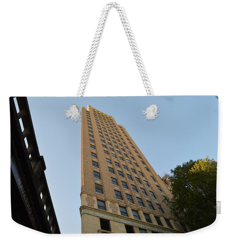 Architecture Weekender Tote Bag featuring the photograph Navarro St Illusion by Shawn Marlow