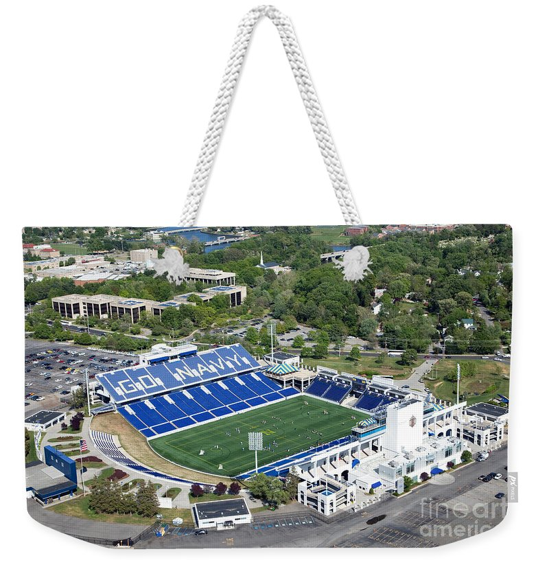 Marine Corps Weekender Tote Bag featuring the photograph Navy Marine Corps Memorial Stadium by Bill Cobb