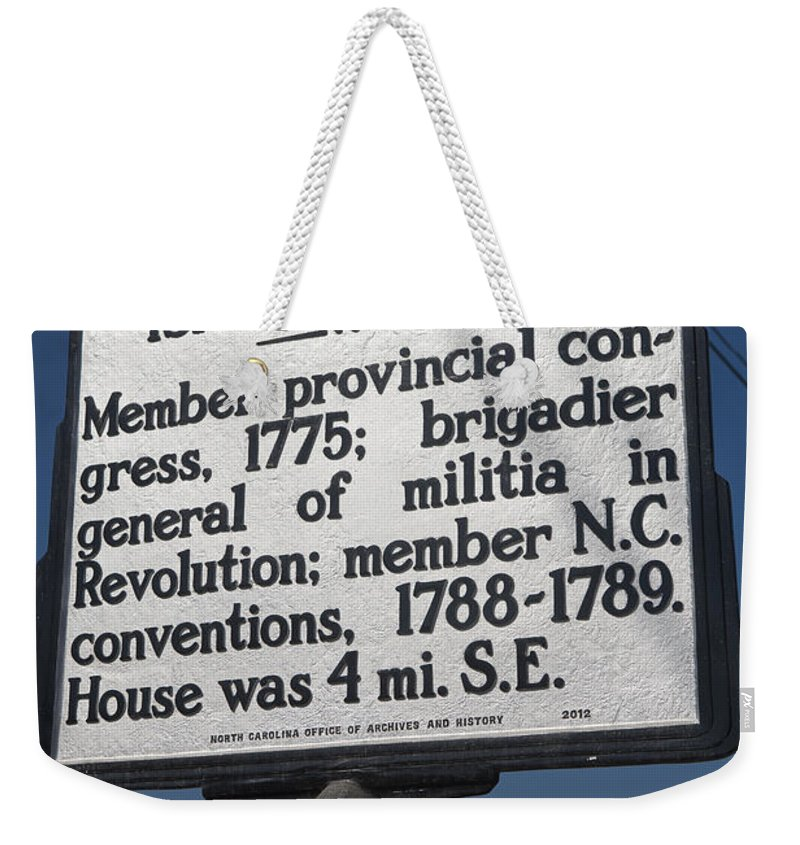 Isaac Gregory Weekender Tote Bag featuring the photograph Nc-a30 Isaac Gregory by Jason O Watson