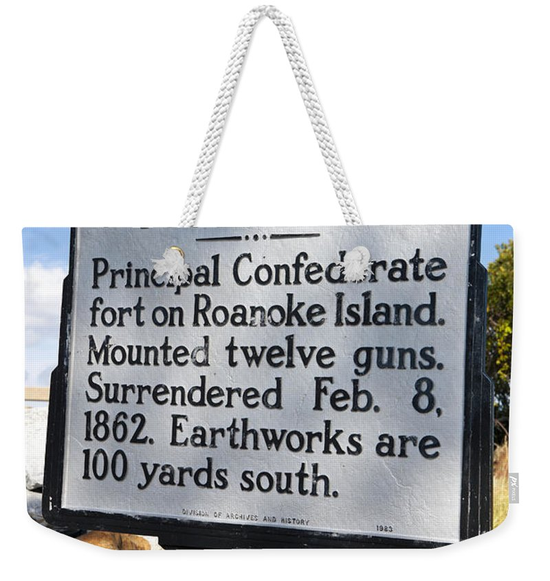Fort Huger Weekender Tote Bag featuring the photograph Nc-b2 Fort Huger by Jason O Watson