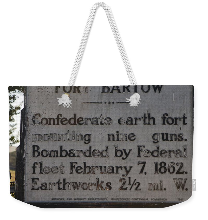Fort Bartow Weekender Tote Bag featuring the photograph Nc-bbb2 Fort Bartow by Jason O Watson