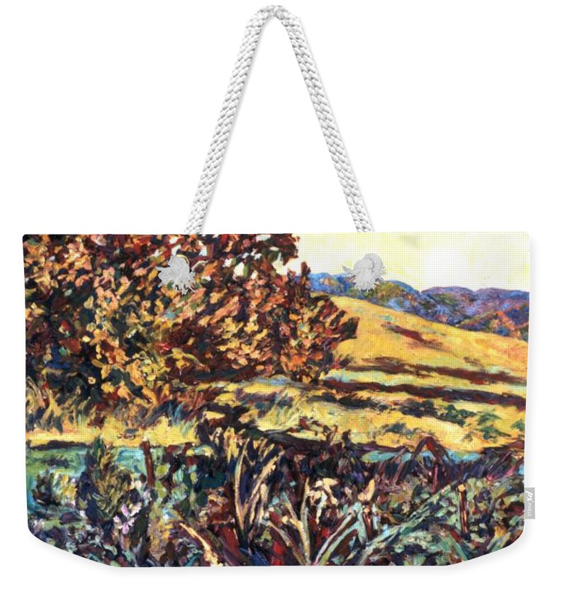 Landscape Weekender Tote Bag featuring the painting Near Childress by Kendall Kessler