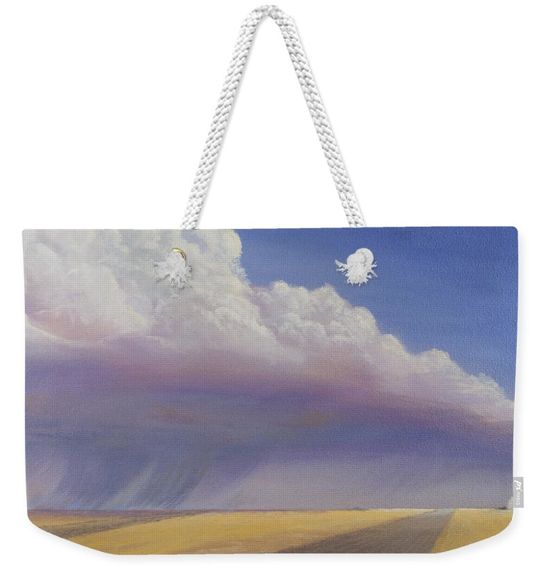 Landscape Weekender Tote Bag featuring the painting Nebraska Vista by Jerry McElroy