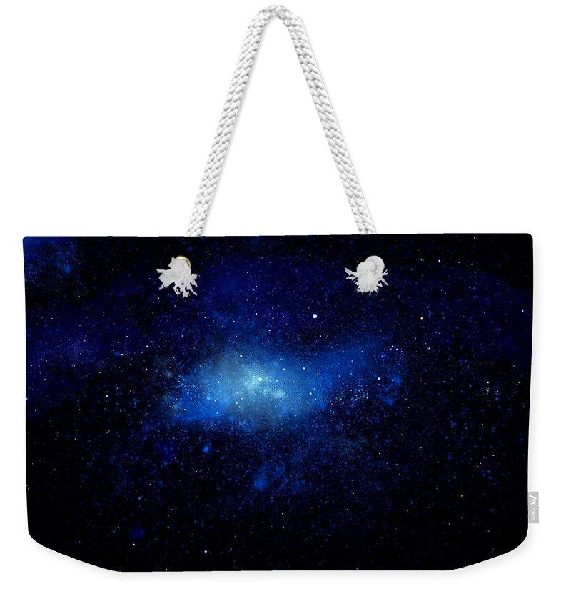 Nebula Ceiling Mural Weekender Tote Bag featuring the painting Nebula Ceiling Mural by Frank Wilson