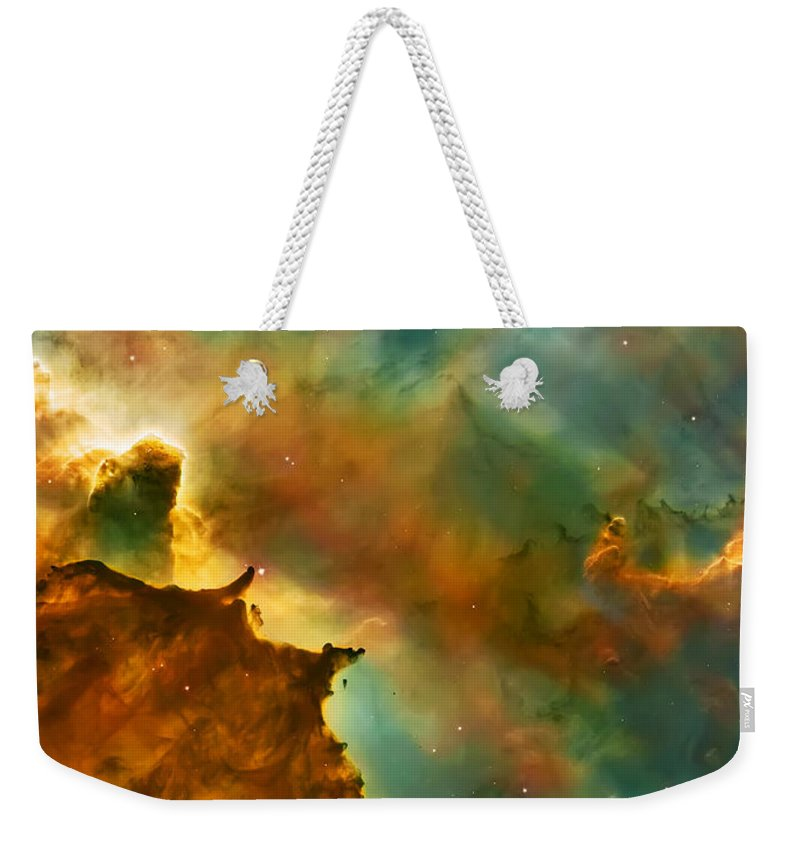 Nasa Images Weekender Tote Bag featuring the photograph Nebula Cloud by Jennifer Rondinelli Reilly - Fine Art Photography
