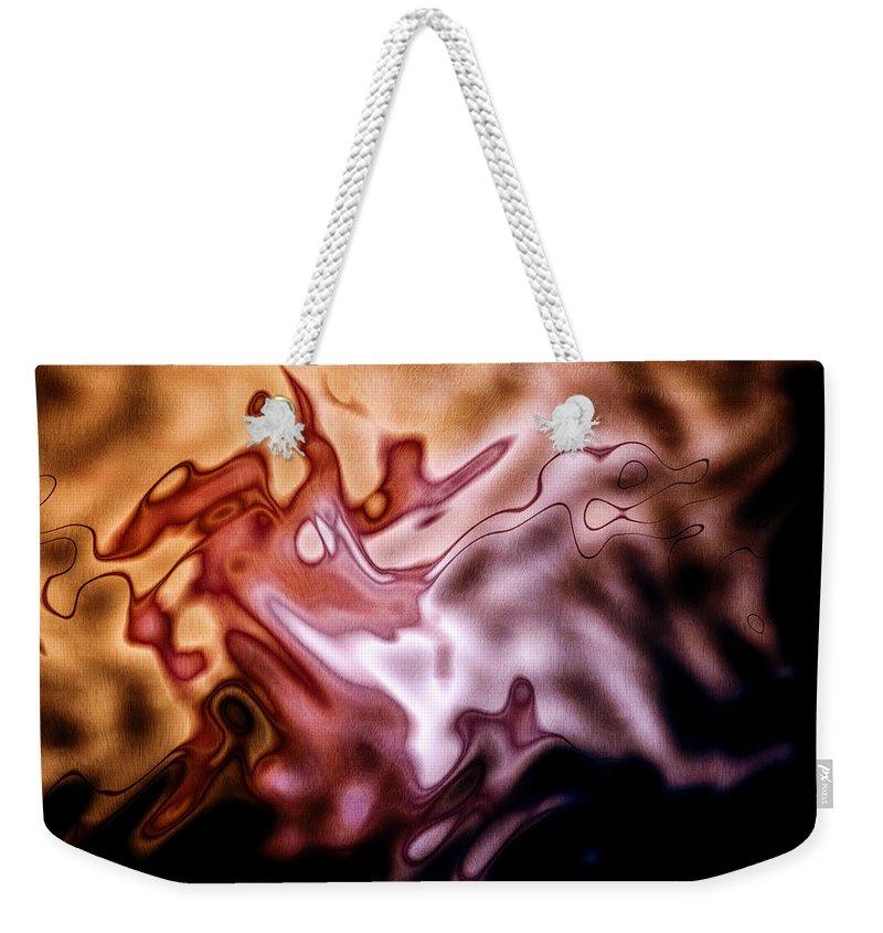 Artmatic Weekender Tote Bag featuring the digital art Nebulous Dragon by Hakon Soreide