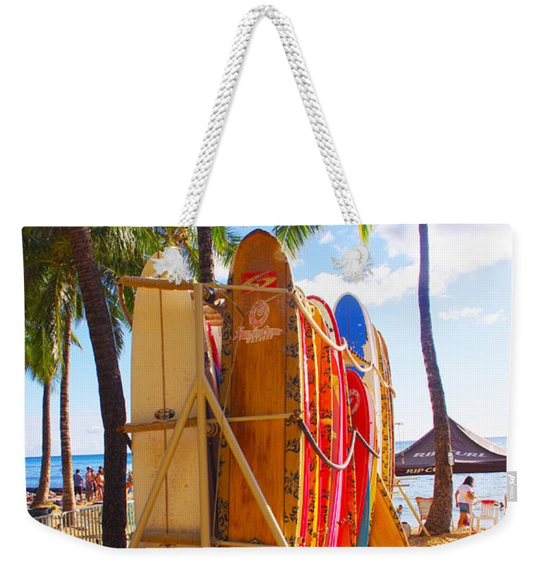 Surfboard Weekender Tote Bag featuring the photograph Need A Surfboard by John Dauer