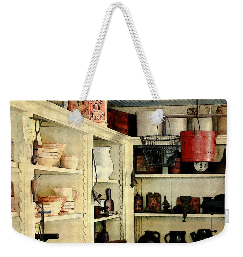 Antiques Weekender Tote Bag featuring the painting Needful Things by RC DeWinter