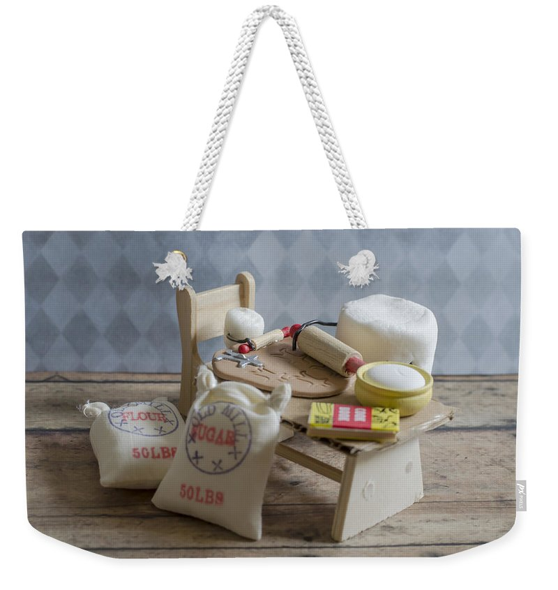 Baking Weekender Tote Bag featuring the photograph Needs More Sugar by Heather Applegate