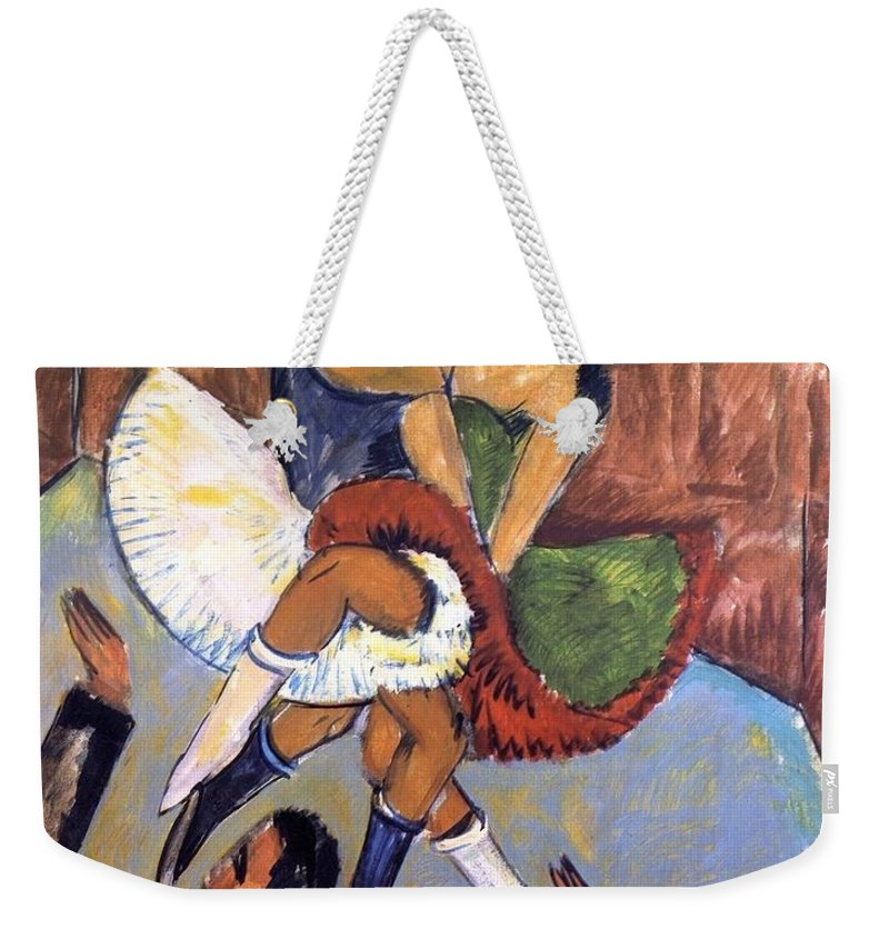 1911 Weekender Tote Bag featuring the painting Negro Dance by Ernst Ludwig Kirchner