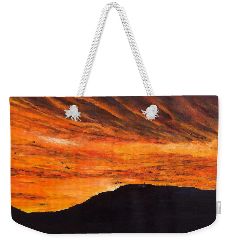 Landscape Weekender Tote Bag featuring the painting Nekdy Je To Kyc by Pablo de Choros