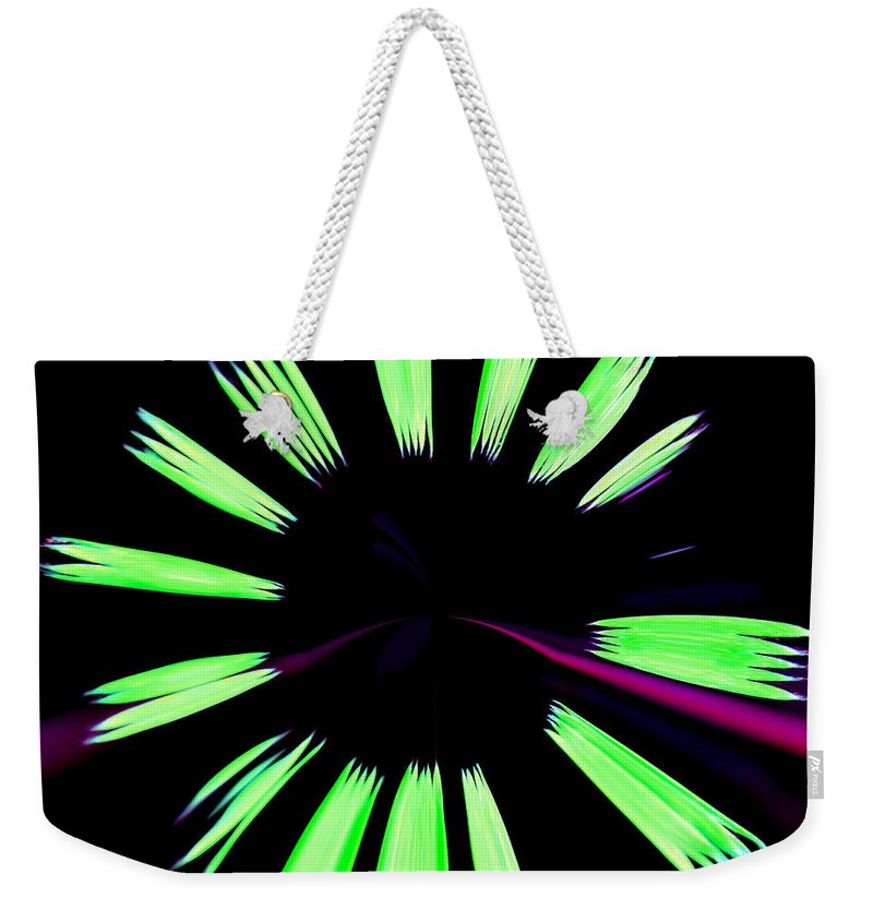 Abstract Weekender Tote Bag featuring the photograph Neon Dreams by Deena Stoddard
