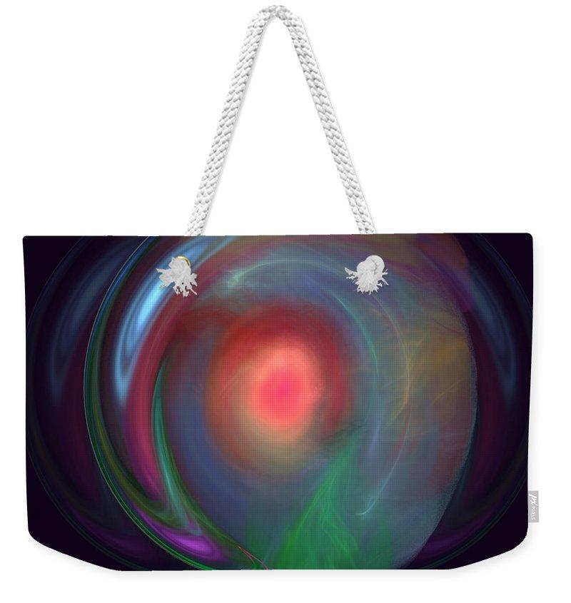 Neon Plasma Ball Weekender Tote Bag featuring the photograph Neon Plasma Globe by Sylvia Thornton