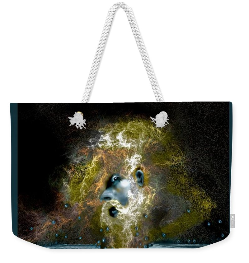 Neptune Weekender Tote Bag featuring the digital art Neptune Rising by Patricia Banks